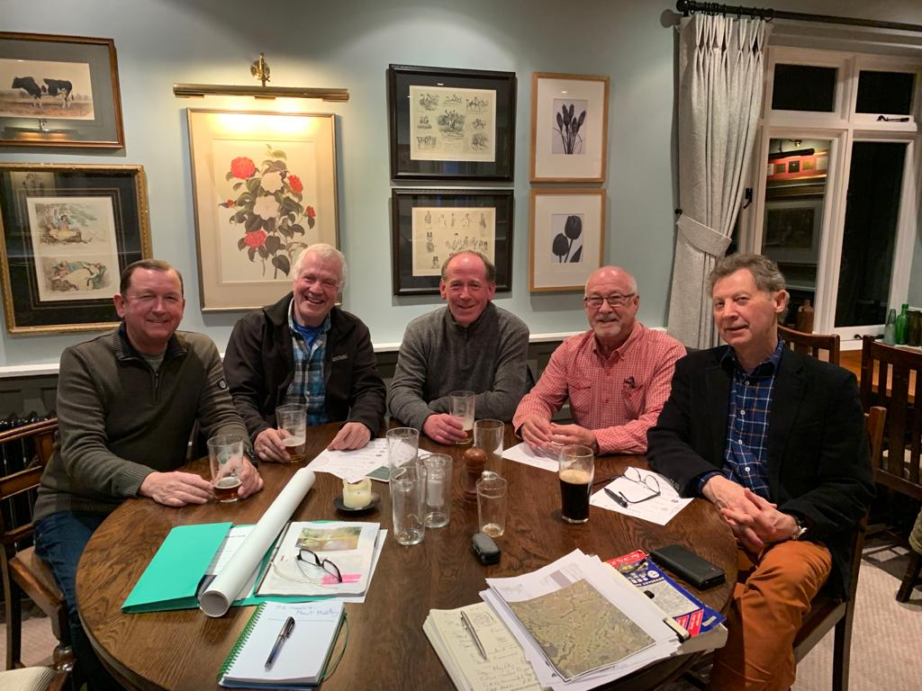 The first meeting, 16th January 2020 at the Bulls Head.